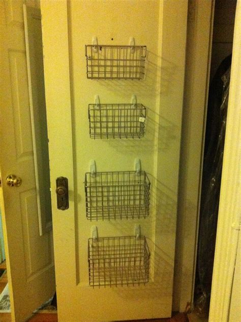 closet organization hang wire baskets by command hooks