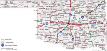 map of oklahoma cities oklahoma road map