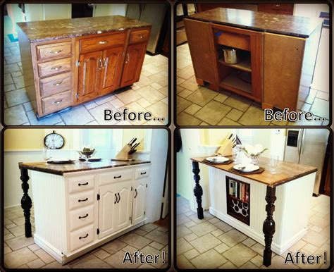 Kitchen Island Cabinets Diy Kitchen Island Renovation Pieces Of Me