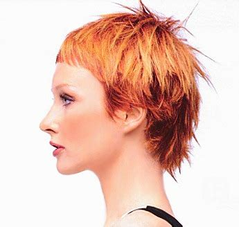 spikey bangs with long hair short layered spiky hair style with very short bangs red