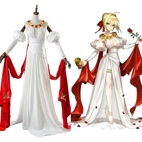 saber nero fate grand order claudius dress cosplay costume