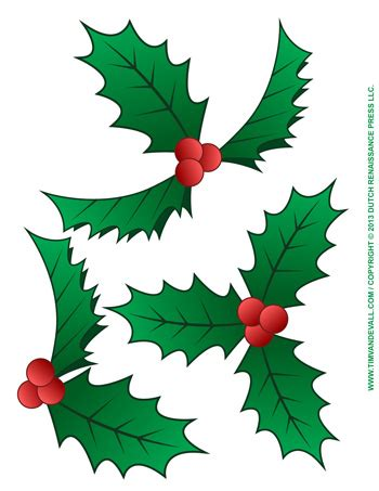 printable holly images christmas holly clip art tim van de vall