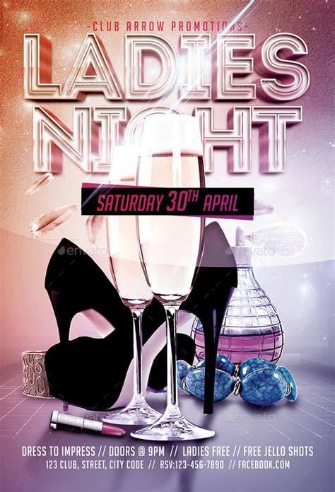ladies night flyer template by arrow3000 graphicriver