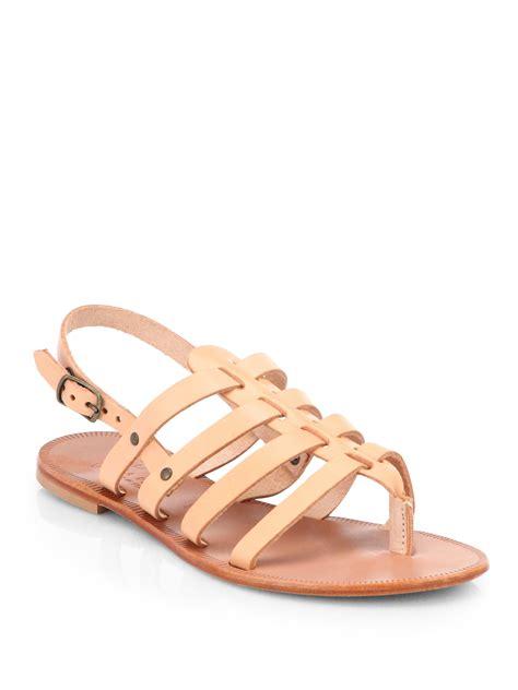 beige gladiator sandals joie leather gladiator sandals in beige lyst