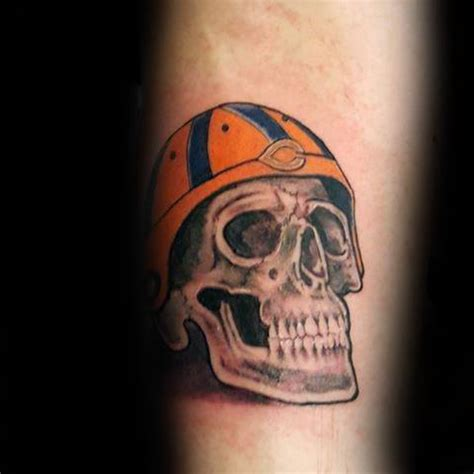 50 chicago bears tattoos for men nfl football ink ideas
