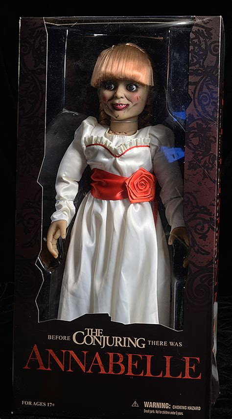 annabelle doll box review and photos of annabelle scaled prop replica doll by