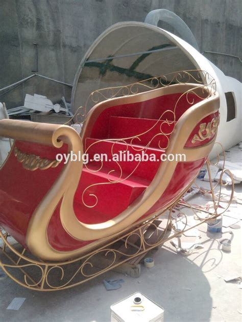 decorative christmas sleigh decoration fibreglass