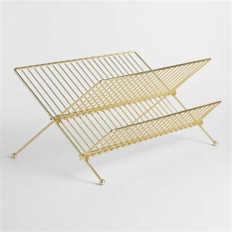 Fold Out Drying Rack by Gold Metal 2 Tier Folding Dish Drying Rack World Market