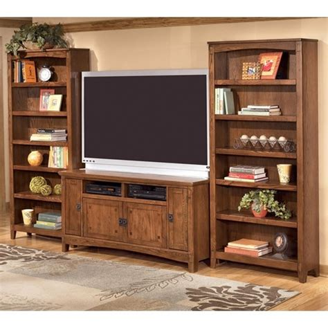 cross island 60 inch tv stand 2 large bookcases by