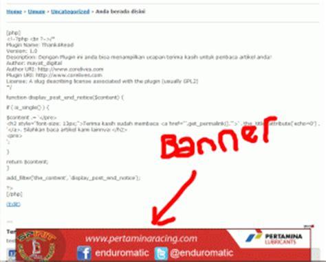 membuat iklan melayang di sing blog cara membuat iklan melayang di footer blog kurniasepta com