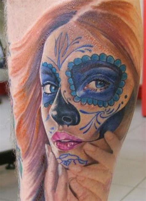 redhead tattoo santa muerte tattooimages biz