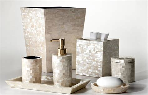 mother of pearl bathroom accessories 15 luxury bathroom accessories set home design lover