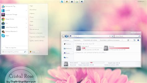 rose themes for windows 7 free download crystal rose by thearthurmorrison on deviantart