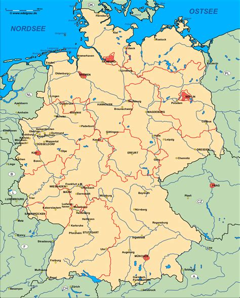 karta deutschland deutschland landkarte kostenlos