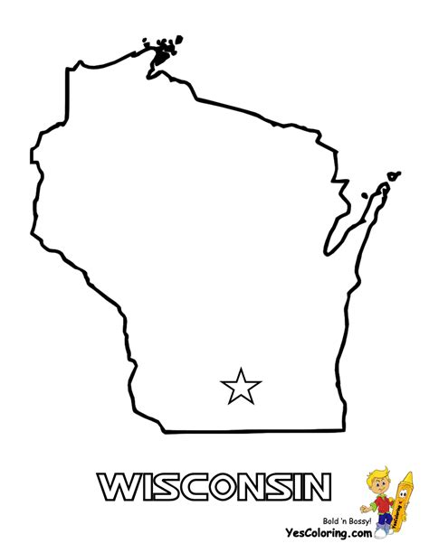 Wisconsin Coloring Pages wisconsin map coloring page coloring pages