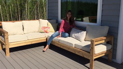 backyard couch how to build a 2x4 outdoor sectional tutorial youtube