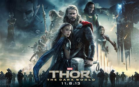 ulasan film thor the dark world thor the dark world poster biff bam pop