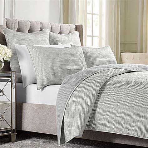 wamsutta bedding wamsutta 174 serenity coverlet in silver bed bath beyond