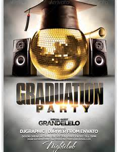 graduation party flyer template party flyer templates