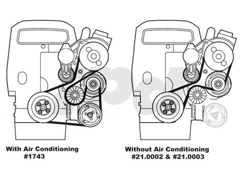auxiliary serpentine drive belt  models  air conditioning     genuine