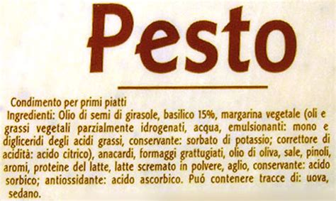 acido ascorbico conservante alimentare il delle notizie sul pesto genovese e sul basilico