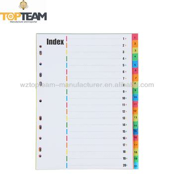 Pen Paper Inter X Folder Index Divider 5 Tabs A4 pp index divider paper index file divider buy pp index divider index file divider paper file