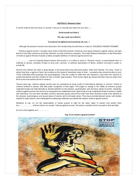violence against research paper violence against a research paper navneet misra