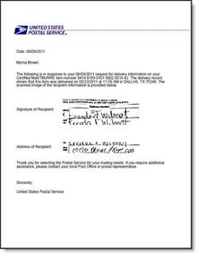 Certification Letter Receiving Money usps certified mail return receipt requested electronic signature