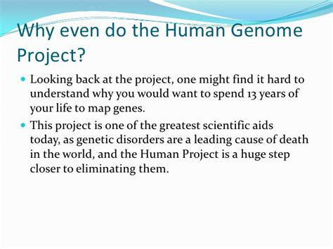 section 13 2 the human genome project the human genome project vlad mike mike leo duff