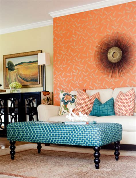 teal orange living room mixing patterns how to decorate like a pro
