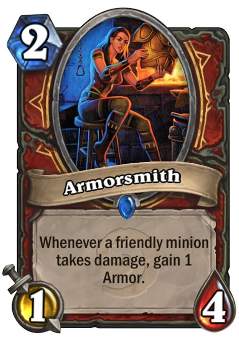 Warrior Deck Hearthstone by Armorsmith Hearthstone Card