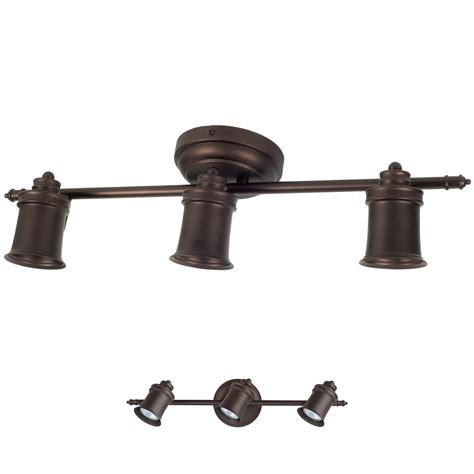 canarm it299a03orb10 taylor 3 bulb wall and ceiling mount track light oil rubbed bronze