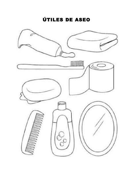 imagenes para colorear utiles de aseo personal utiles de aseo
