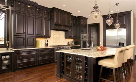 secret to create distressed black kitchen cabinets