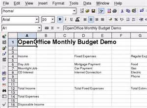 Open Office Budget Template by How To Make A Budget Spreadsheet In Openoffice