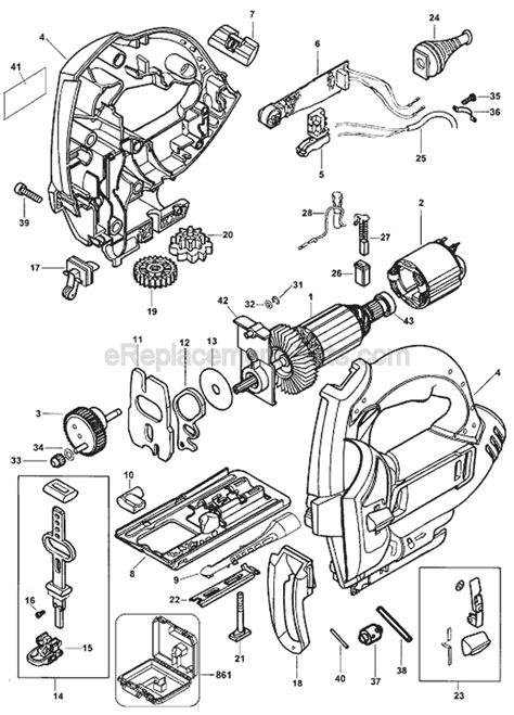 Black and Decker JS600 Parts List and Diagram - Type 1