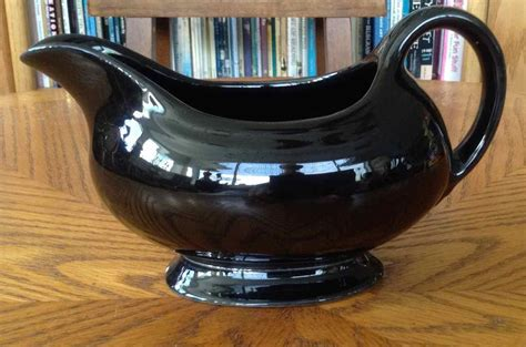 gravy boat black vintage black fiesta gravy boat made in usa 1950 to