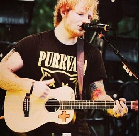 facts about ed sheeran s life ed sheeran s quot purrvana quot shirt fabulous felines