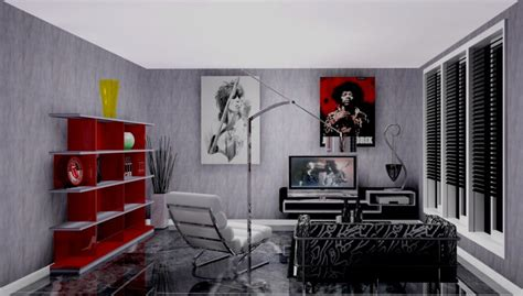 Music Themed Bedroom Ideas creative living room design in grey finish rock