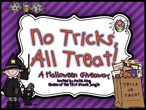 No Tricks All Treats by No Tricks All Treat Giveaway Of The Grade