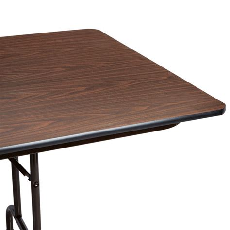 36 X 96 Plastic Folding Table by Correll Folding Table 36 Quot X 96 Quot Melamine Top Walnut