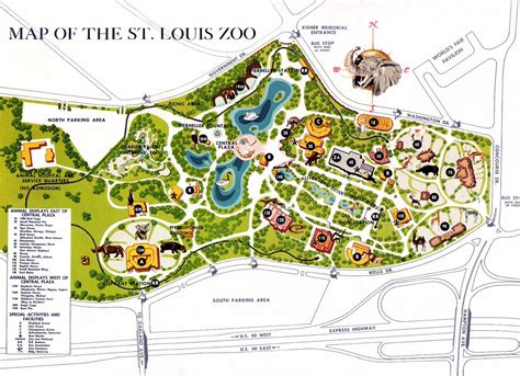 map of st louis and everything else st louis zoo 68
