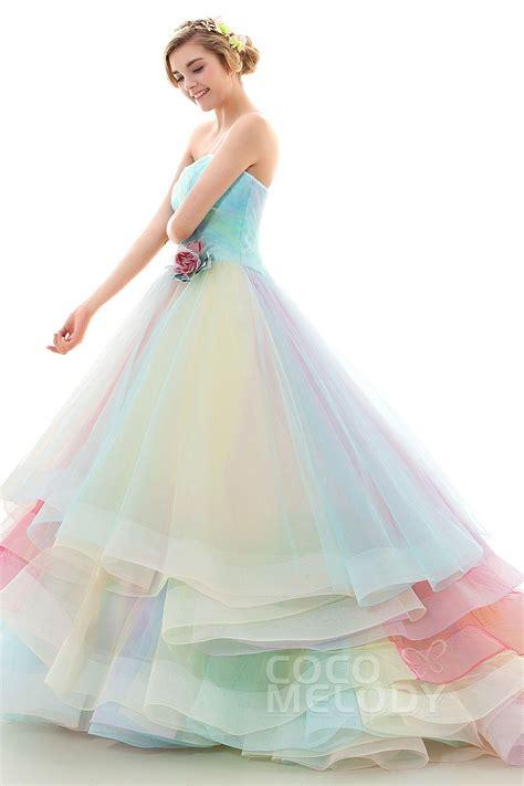 rainbow colored dresses pastel rainbow dress wedding wear dresses rainbow