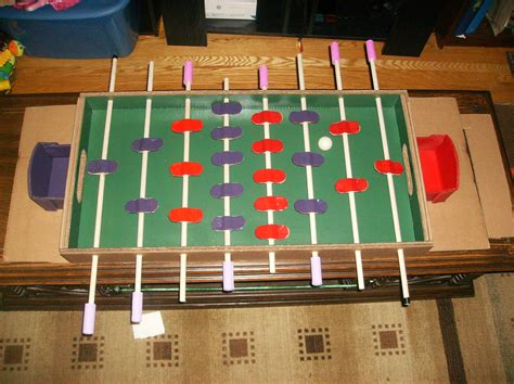 How To Make A Foosball Table by A Foosball Table Made Almost Entirely From Cardboard Make