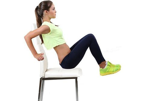 chair exercises at work for stomach 5 chair exercises that reduce belly in no time