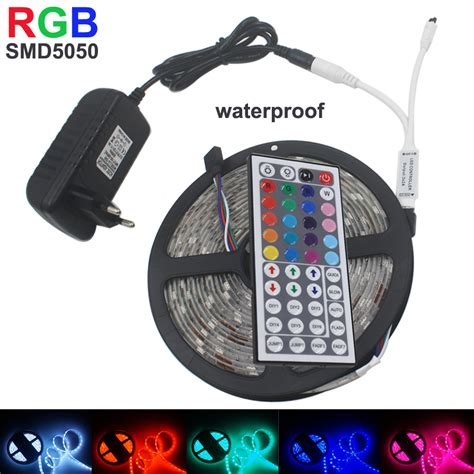 tape lights with remote 5m smd rgb 5050 tape light waterproof 150 led strip light