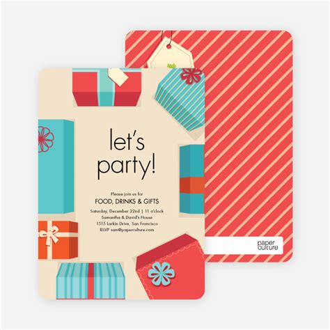 gift exchanges for gift exchange invitations paper culture