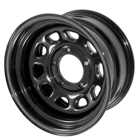 5x4 5 Jeep Wheels Black Steel Wheel 15x8 5x4 5 Jeep Wrangler Yj Tj 15500 01