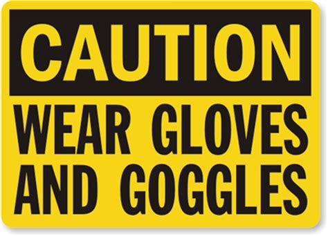 wear gloves and goggles sign, sku: s 2904 mysafetysign.com