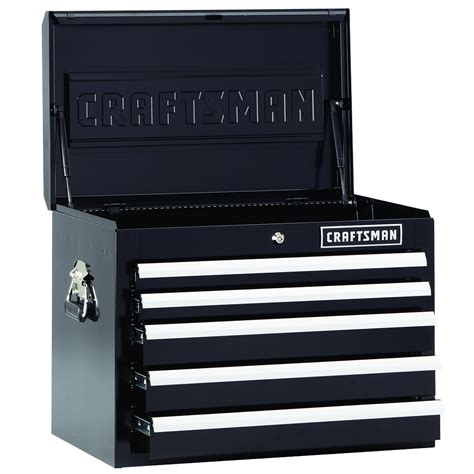 craftsman 5 drawer tool box kmart craftsman 5 drawer premium heavy duty top chest black
